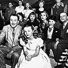 Walt Disney, Edgar Bergen, and Kathryn Beaumont in One Hour in Wonderland (1950)