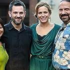 "Jocelyn Fizia, Sean Robert Olson, Arianne Zucker on the set of ""The Contractor"""
