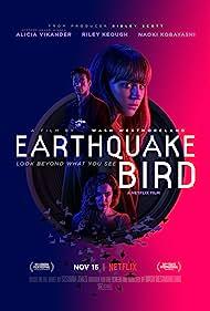 Riley Keough, Alicia Vikander, and Naoki Kobayashi in Earthquake Bird (2019)