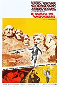 Cary Grant, Alfred Hitchcock, Eva Marie Saint, and Philip Ober in North by Northwest (1959)
