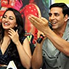 Akshay Kumar and Sonakshi Sinha at an event for OMG: Oh My God! (2012)