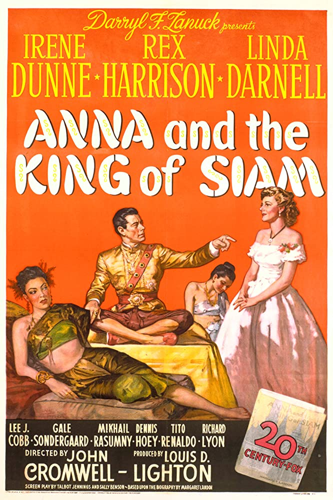 Linda Darnell, Rex Harrison, and Irene Dunne in Anna and the King of Siam (1946)