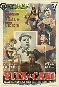 Aldo Fabrizi, Tamara Lees, Gina Lollobrigida, and Delia Scala in Vita da cani (1950)