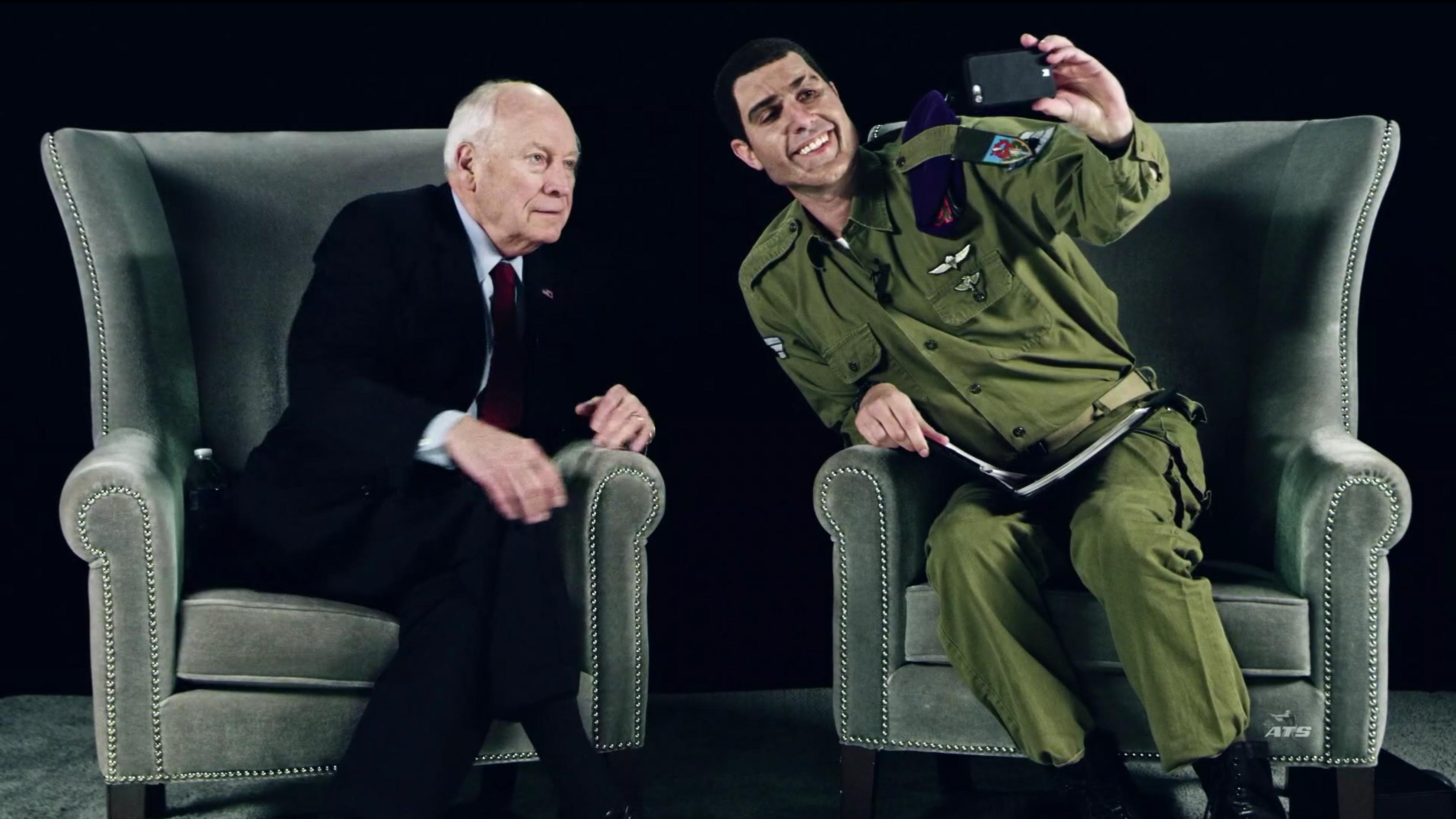 Sacha Baron Cohen and Dick Cheney in Who Is America? (2018)