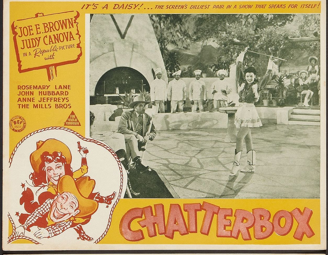 Dorothy Andre, John Hubbard, Mary Kenyon, and The Mills Brothers in Chatterbox (1943)