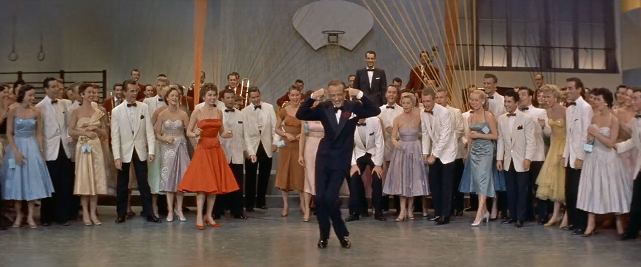 Fred Astaire, Leslie Caron, Ray Anthony, John Carlyle, Janice Carroll, Shirley Doble, Kelly Gordon, Virginia Hunter, Diane Jergens, Eileen Maxwell, Lisa Montell, Liliane Montevecchi, Leslie Parrish, and Pat Sheehan in Daddy Long Legs (1955)