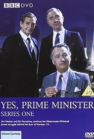 Nigel Hawthorne, Paul Eddington, and Derek Fowlds in Yes, Prime Minister (1986)