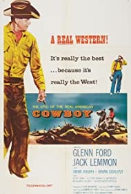 Jack Lemmon and Glenn Ford in Cowboy (1958)