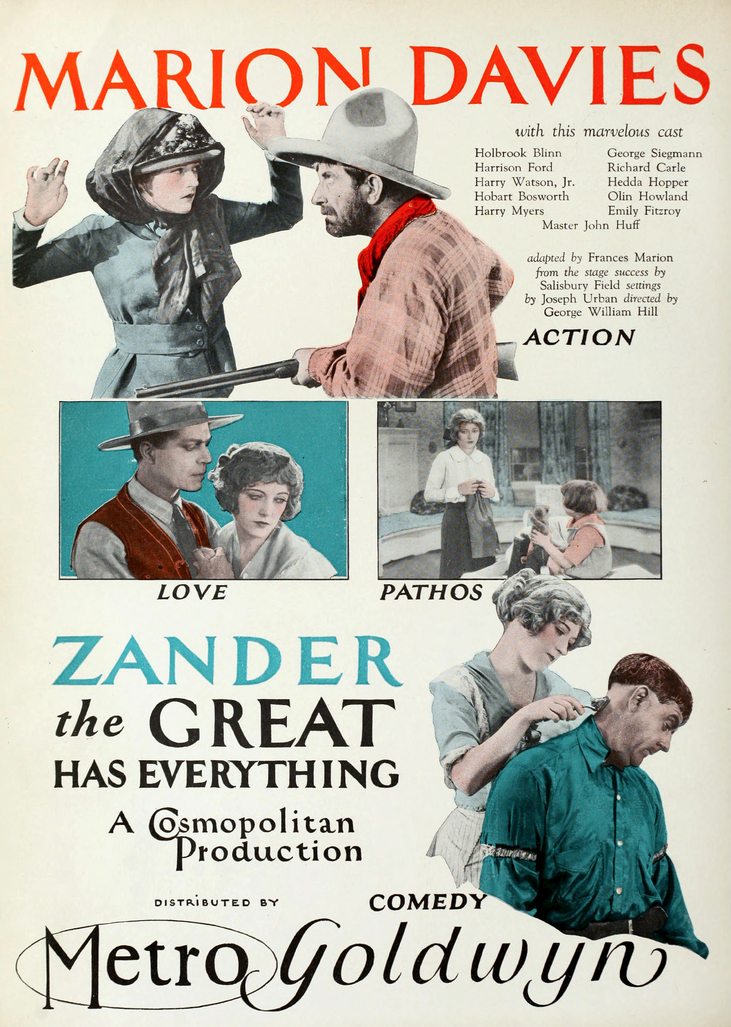 Harrison Ford, Holbrook Blinn, Marion Davies, and Betsy Ann Hisle in Zander the Great (1925)
