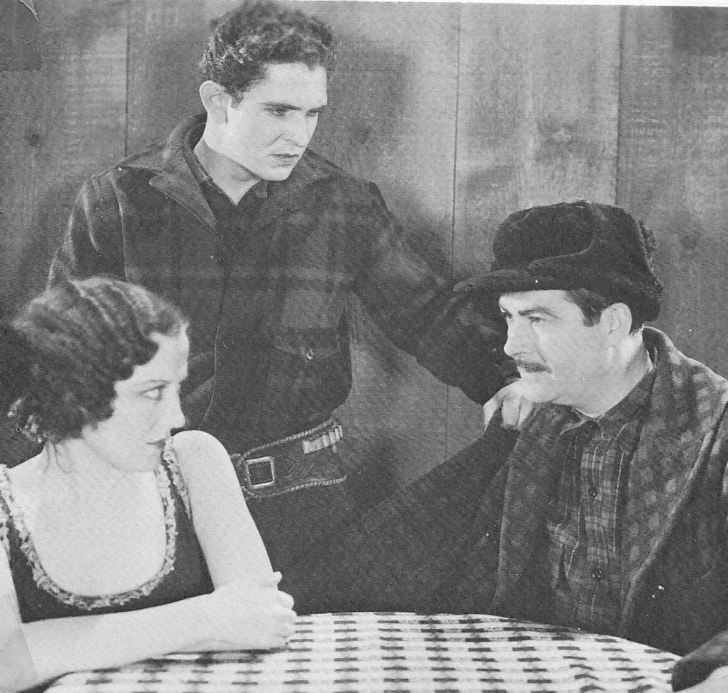 George 'Gabby' Hayes, Doris Hill, and Bob Steele in Trailing North (1933)