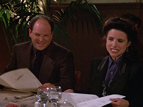 Julia Louis-Dreyfus and Jason Alexander in Seinfeld (1989)