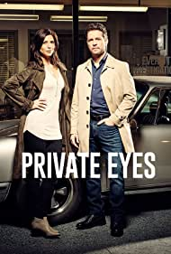 Jason Priestley and Cindy Sampson in Private Eyes (2016)