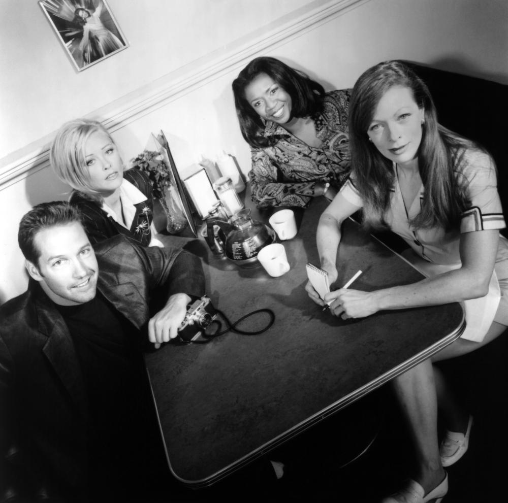 D.B. Sweeney, Frances Fisher, Pamela Gidley, and Cynthia Martells in Strange Luck (1995)