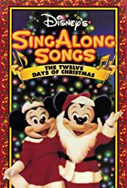 disney sing along songs the twelve days of christmas poster