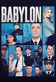 Paterson Joseph, James Nesbitt, Martin Trenaman, Bertie Carvel, Ella Smith, and Daniel Kaluuya in Babylon (2014)