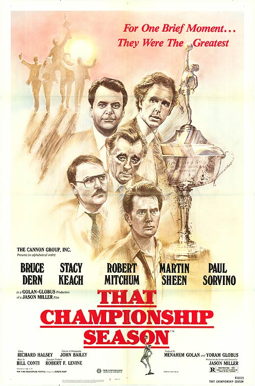 Robert Mitchum, Martin Sheen, Paul Sorvino, Bruce Dern, and Stacy Keach in That Championship Season (1982)