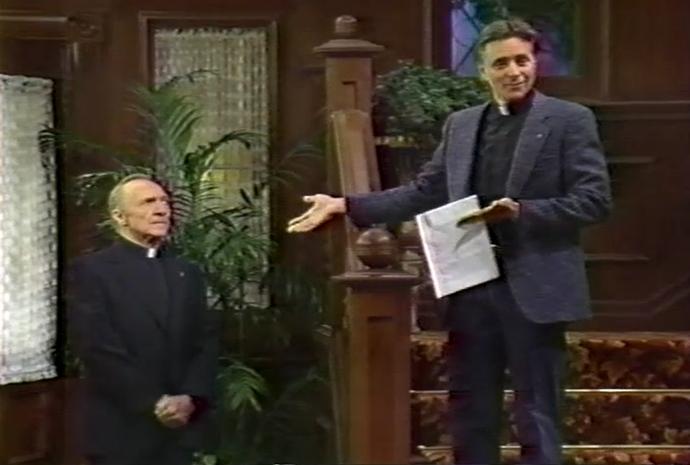 Frank Hamilton and Joel Higgins in Have Faith (1989)