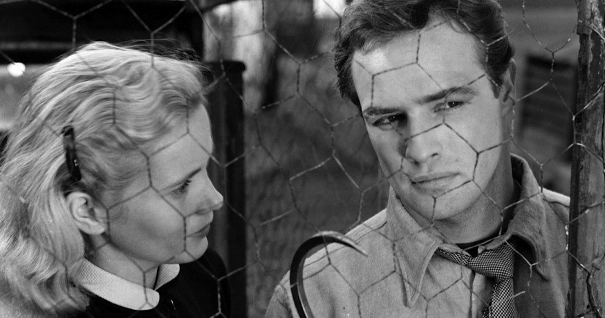Marlon Brando and Eva Marie Saint in On the Waterfront (1954)