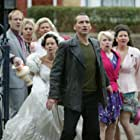 Christopher Eccleston, Camille Coduri, Shaun Dingwall, Billie Piper, Eirlys Bellin, Natalie Jones, and Rhian James in Doctor Who (2005)