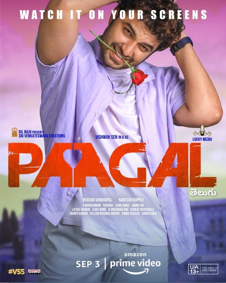 PAAGAL (2021) Telugu Movie 480p HDRip x264 ESubs 400MB Download