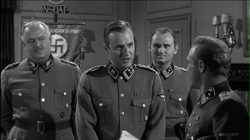 John Banner and Werner Klemperer in Operation Eichmann (1961)