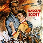 Randolph Scott, Lex Barker, André De Toth, and Phyllis Kirk in Thunder Over the Plains (1953)