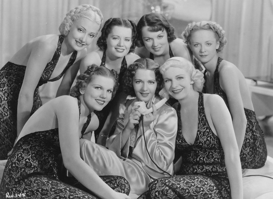 Virginia Dabney, Carol Hughes, Ruby Keeler, and Wini Shaw in Ready, Willing and Able (1937)