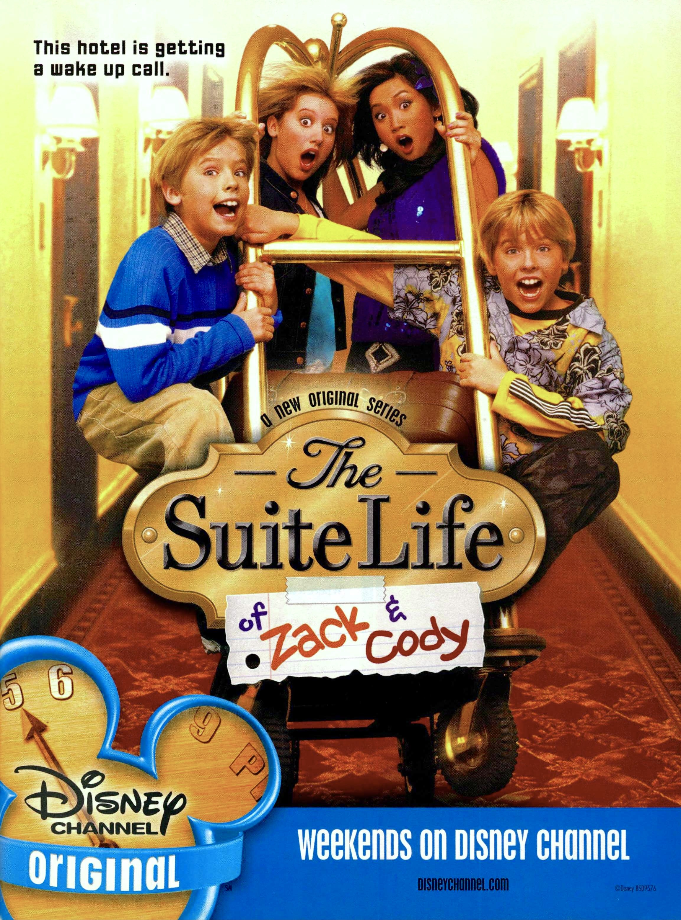 Brenda Song, Cole Sprouse, Dylan Sprouse, and Ashley Tisdale in The Suite Life of Zack & Cody (2005)
