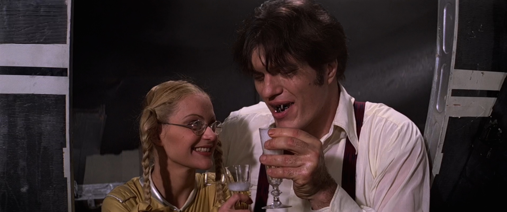 Richard Kiel and Blanche Ravalec in Moonraker (1979)
