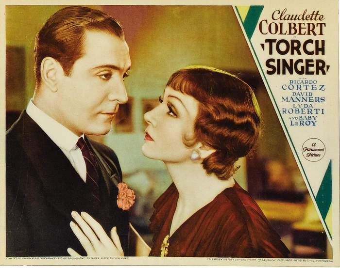 Claudette Colbert and Ricardo Cortez in Torch Singer (1933)