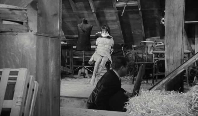Bernadette Lafont and Jean Marais in Pleins feux sur Stanislas (1965)