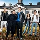 Pernilla August, Nikita Uggla, Edvin Ryding, Frida Argento, Malte Gårdinger, and Omar Rudberg in Young Royals (2021)