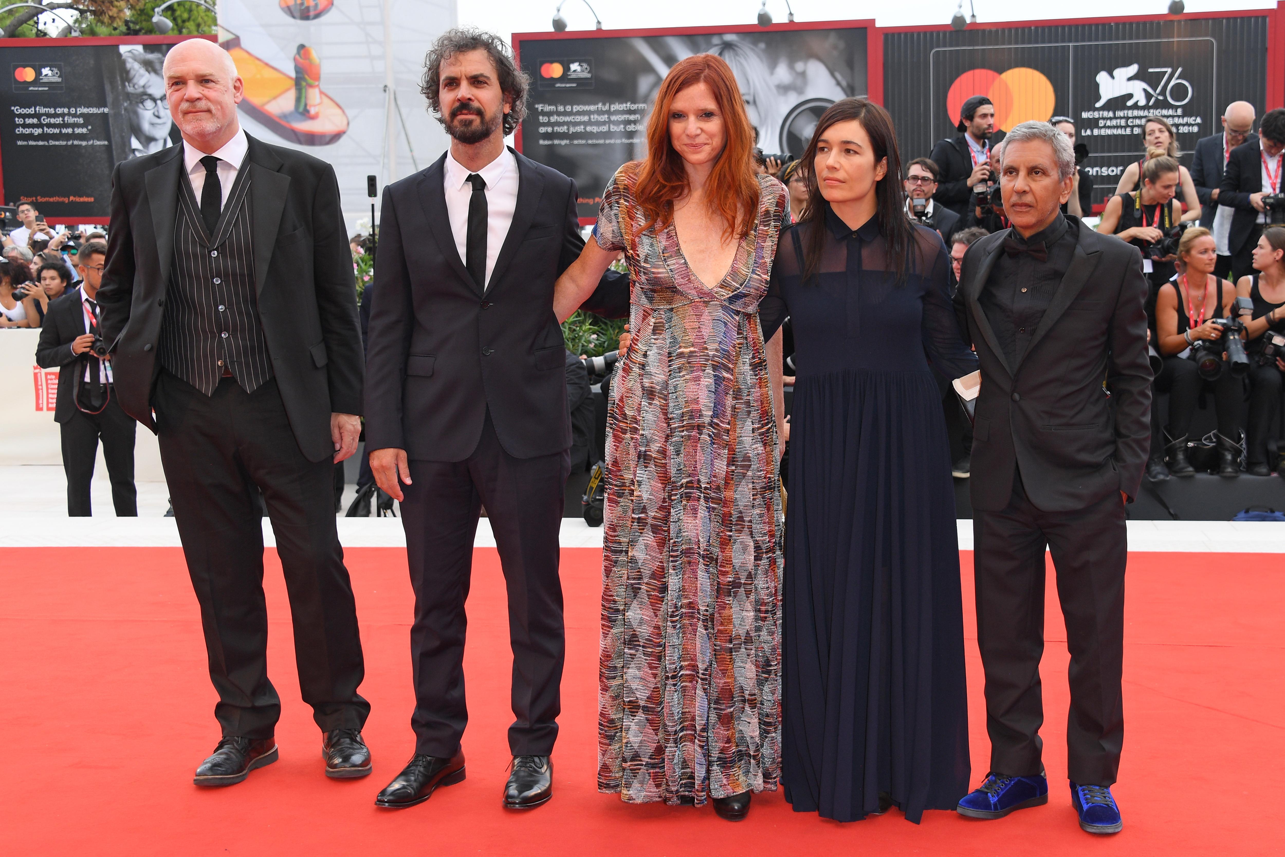 Rachid Bouchareb, Álvaro Brechner, and Susanna Nicchiarelli at an event for La vérité (2019)