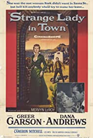 Dana Andrews and Greer Garson in Strange Lady in Town (1955)