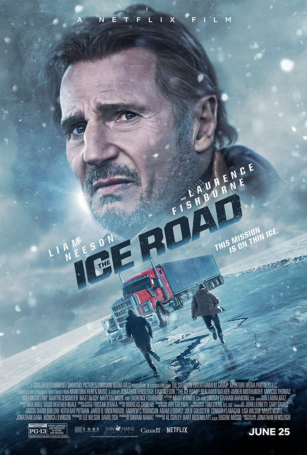 Download The Ice Road 2021 HQ Hindi Dubbed 1080p HDRip 1.6GB