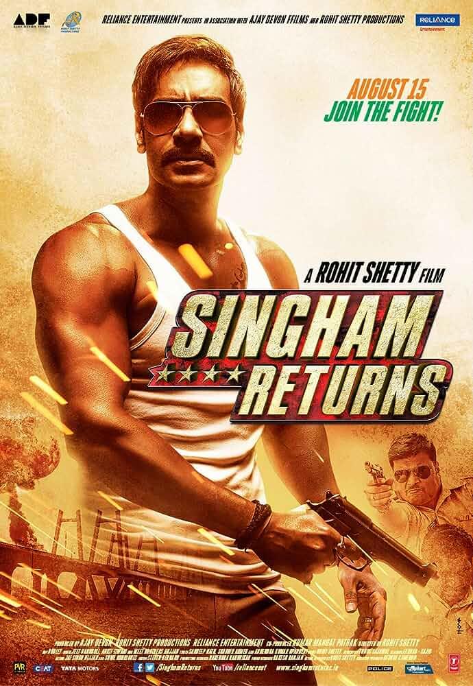 Singham Returns (2014) Hindi 480p BluRay Esubs 450MB