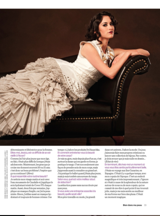 Interview with Jessica Malka for 7 Jours Magazine (2014)
