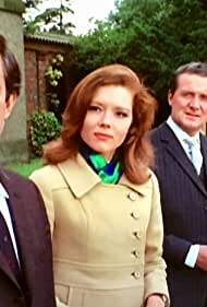 Patrick Macnee, Diana Rigg, Norman Bowler, and Valerie Van Ost in The Avengers (1961)
