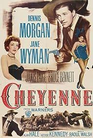 Bruce Bennett, Dennis Morgan, Janis Paige, and Jane Wyman in Cheyenne (1947)