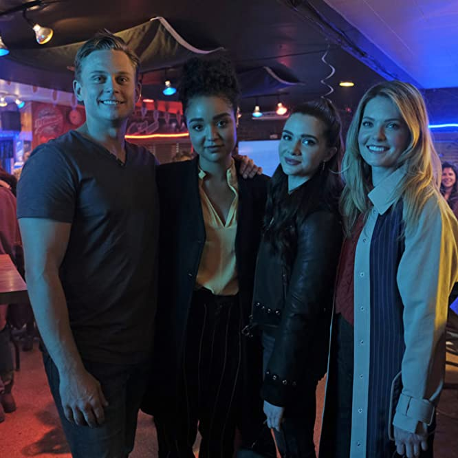 Billy Magnussen, Aisha Dee, Meghann Fahy, and Katie Stevens in The Bold Type (2017)