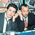 Stelios Mainas and Ieroklis Michaelidis in Eimaste ston aera (1997)