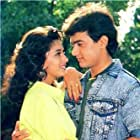 Madhuri Dixit and Aamir Khan in Dil (1990)