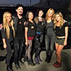 Jordan Rachel, Lori Allen Thomas, Anna Marie Dobbins, and Jenny Cooper on set Sony Pictures Studios
