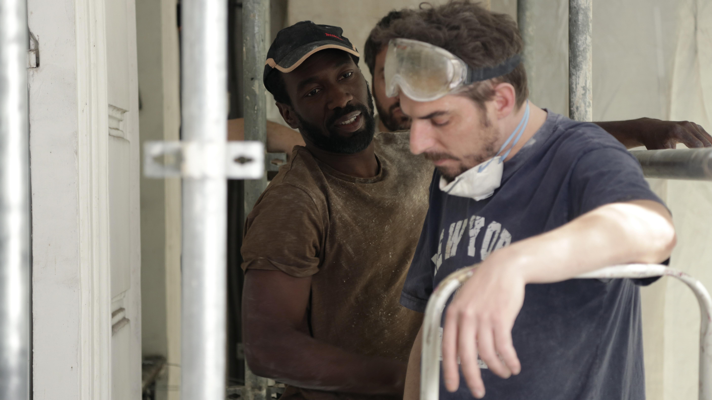 Antoine Laurent, Cyril Gueï, and Damien Bonnard in Madame (2019)