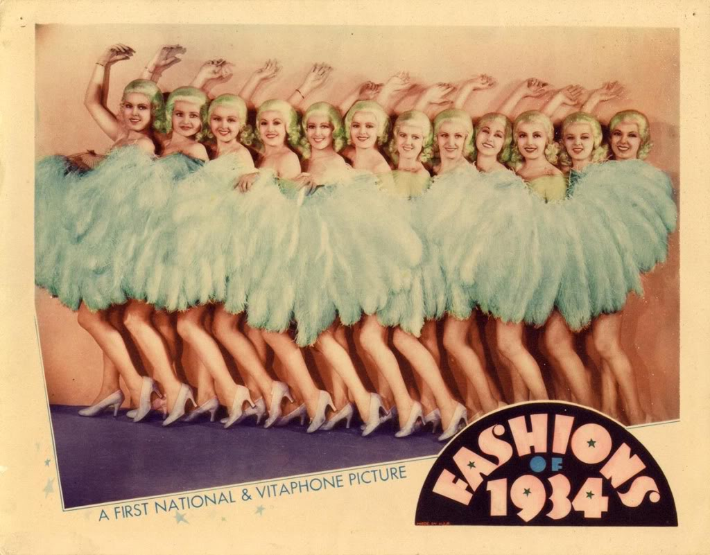 Lois Lindsay, Rickey Newell, Maybelle Palmer, Donna Mae Roberts, Rosalie Roy, Victoria Vinton, Renee Whitney, Pat Wing, and Miriam Marlin in Fashions of 1934 (1934)