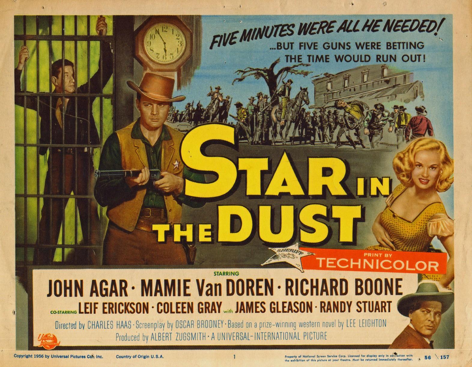 John Agar, Leif Erickson, Richard Boone, and Mamie Van Doren in Star in the Dust (1956)