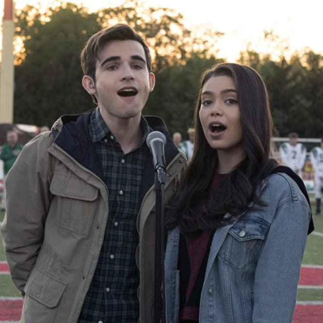 Ted Sutherland and Auli'i Cravalho in Rise (2018)