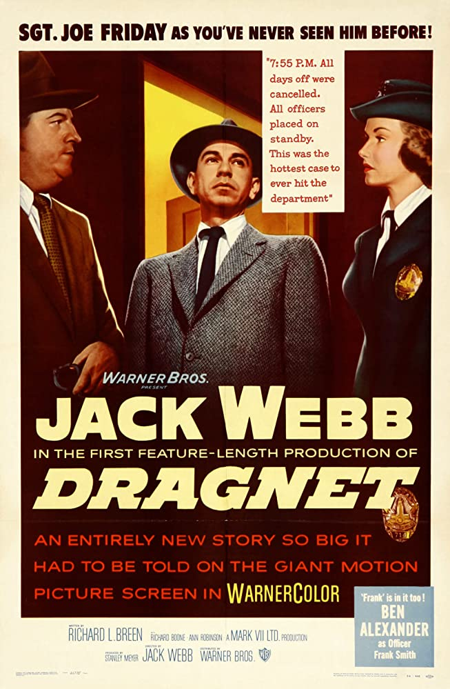 Ben Alexander, Ann Robinson, and Jack Webb in Dragnet (1954)