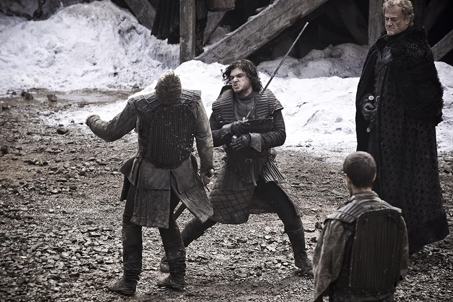Owen Teale, Josef Altin, Kit Harington, and Mark Stanley in Game of Thrones (2011)