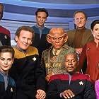 Michael Dorn, Terry Farrell, Colm Meaney, Nana Visitor, Avery Brooks, Armin Shimerman, Rene Auberjonois, Cirroc Lofton, and Alexander Siddig in Star Trek: Deep Space Nine (1993)